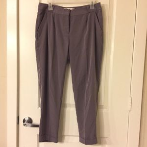 Lauren Conrad Sz 8 Purple Slacks Pants Polyester